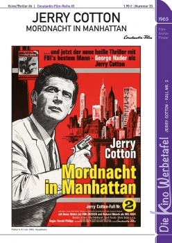 Kinowerbetafel #33 - Jerry Cotton: Mordnacht in Manhattan